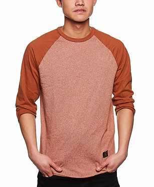 HUF Standard Issue Raglan Rust Tee