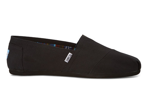TOMS Men's Black on Black Canvas Classics