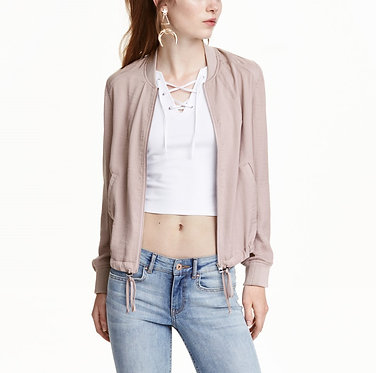 H&M Light Taupe Bomber Jacket