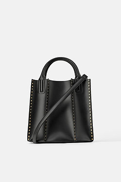 ZARA Studded Shopper Bag