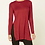 Thumbnail: FOREVER 21 Knit Side Slit Burgundy Top