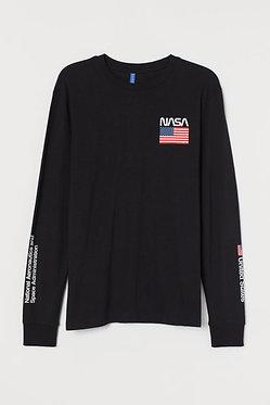 H&M Men's NASA Printed Jersey Shirt
