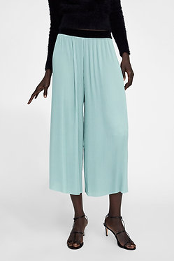 ZARA Pleated Trousers Sea Green