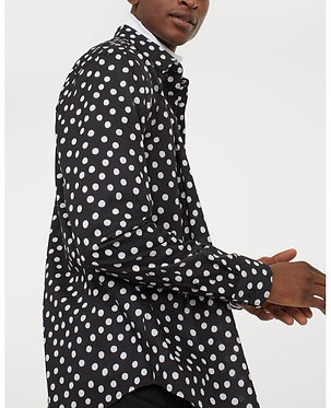 H&M Men's Black/White Dotted Shirt