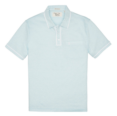 Original Penguin Earl Linen Crystal Blue Polo Shirt