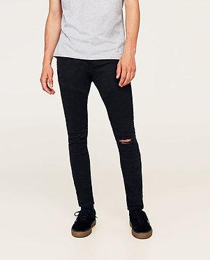 ZARA Man Biker Trousers Black