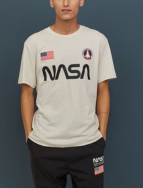 H&M Men's NASA T-shirt with Printed Design