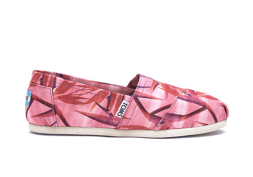 TOMS Pink Birds of Paradise Classics