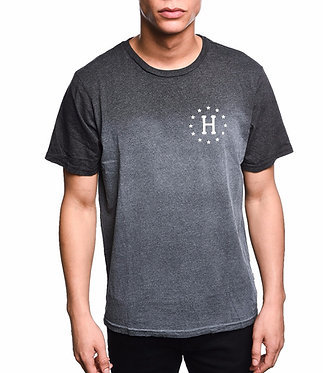 HUF // 12 Galaxies Dipped Heather Charcoal Tee