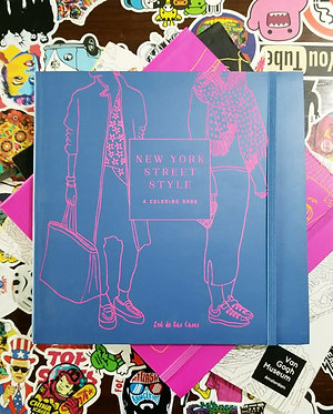 New York Street Style Coloring Book