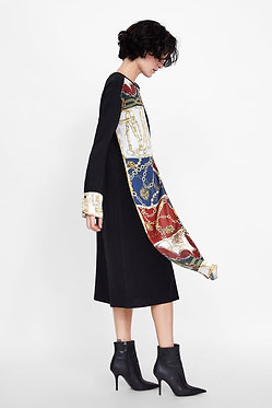ZARA Contrasting Chain Print Dress