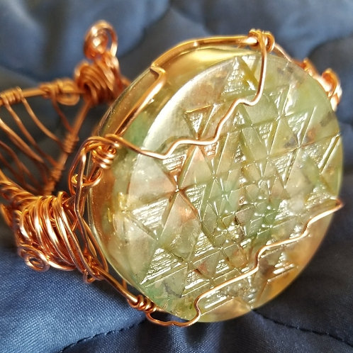 Sri Yantra Medallion Orgonite