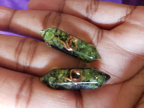 Double Terminated Orgonite Studs