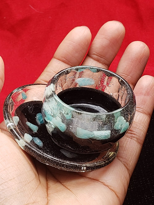 Small Bowl and Plate Orgone Set