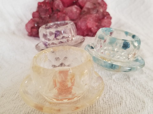 Small Bowl and Plate Orgonite Set
