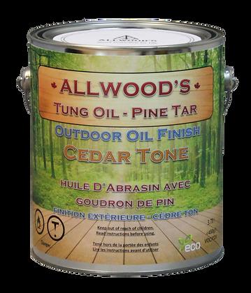 1 gal. Cedar Tone, Tung Oil - Pine Tar finish