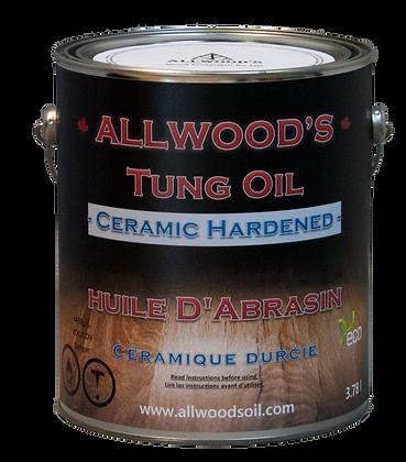 1 gal. Ceramic Hardened- Tung Oil finish