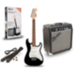 Electric guitar starter pack with amplifier, strap and plectrums.jpg