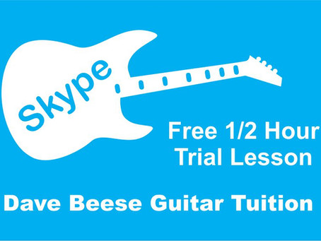 Introducing 1:1 Online Personalised Guitar Lessons via Skype and Webcam by Dave Beese