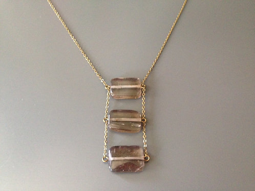 Smokey Square Drop Necklace