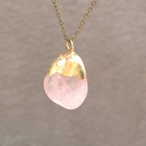 Rose Quartz Necklace - Heart Chakra