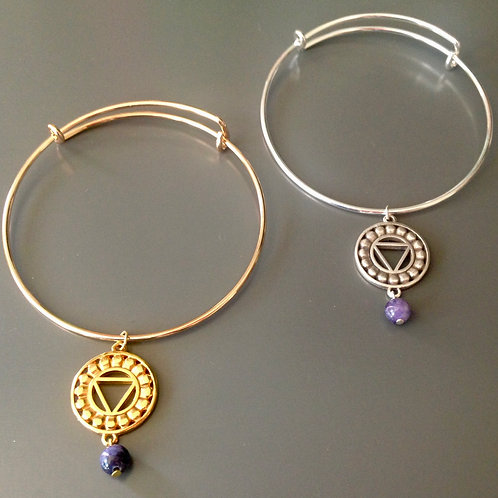 THROAT Chakra Bangle Bracelet