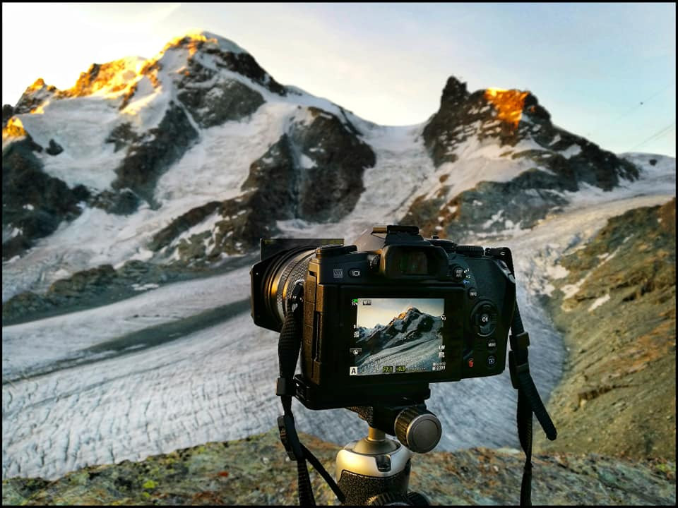 Camera and tripod for landscape photography