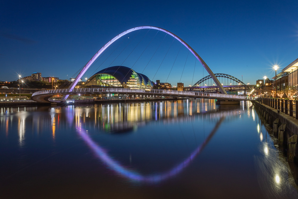 Night reflections in Newcastle