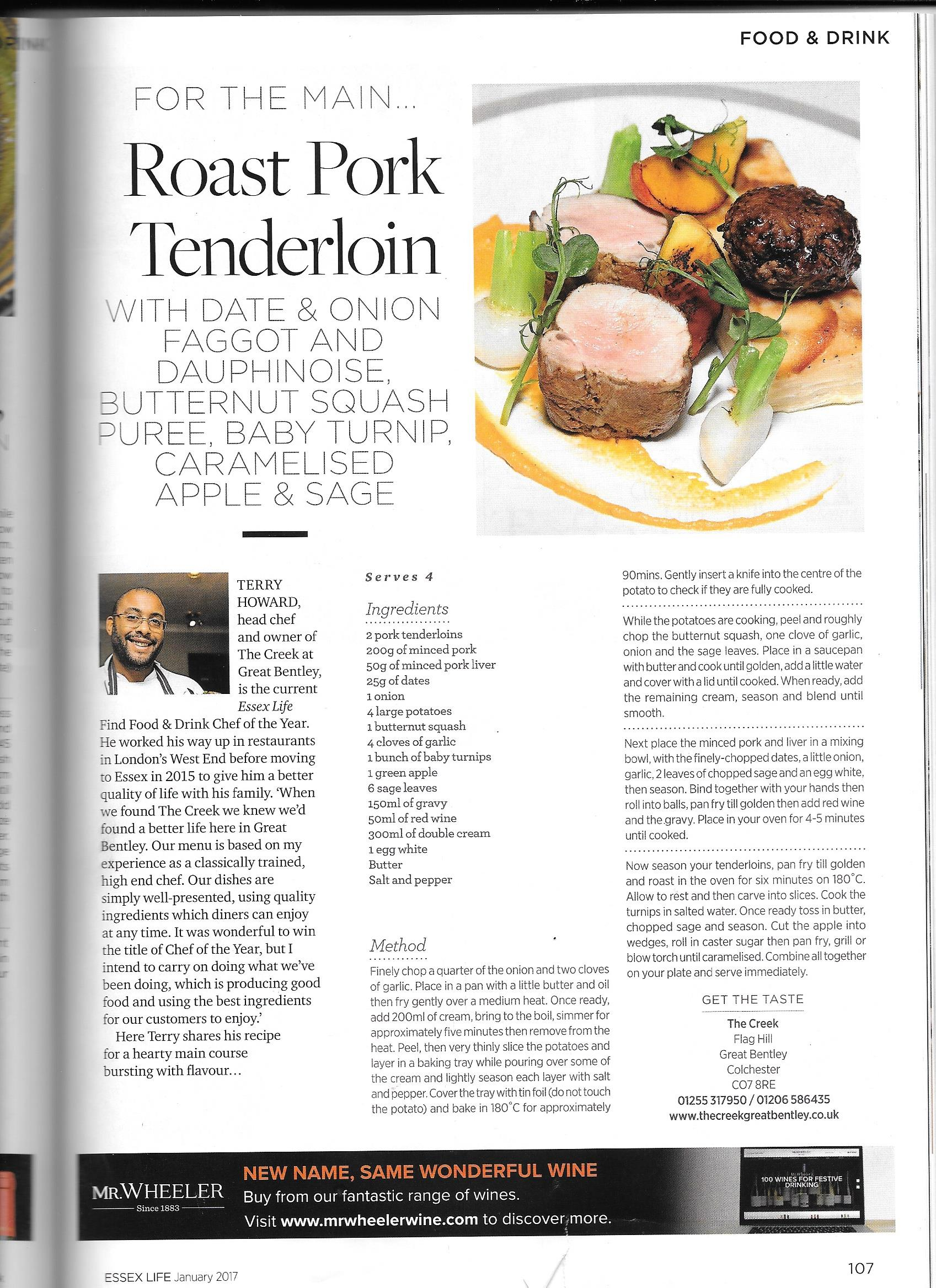 Essex life Magazine Recipe