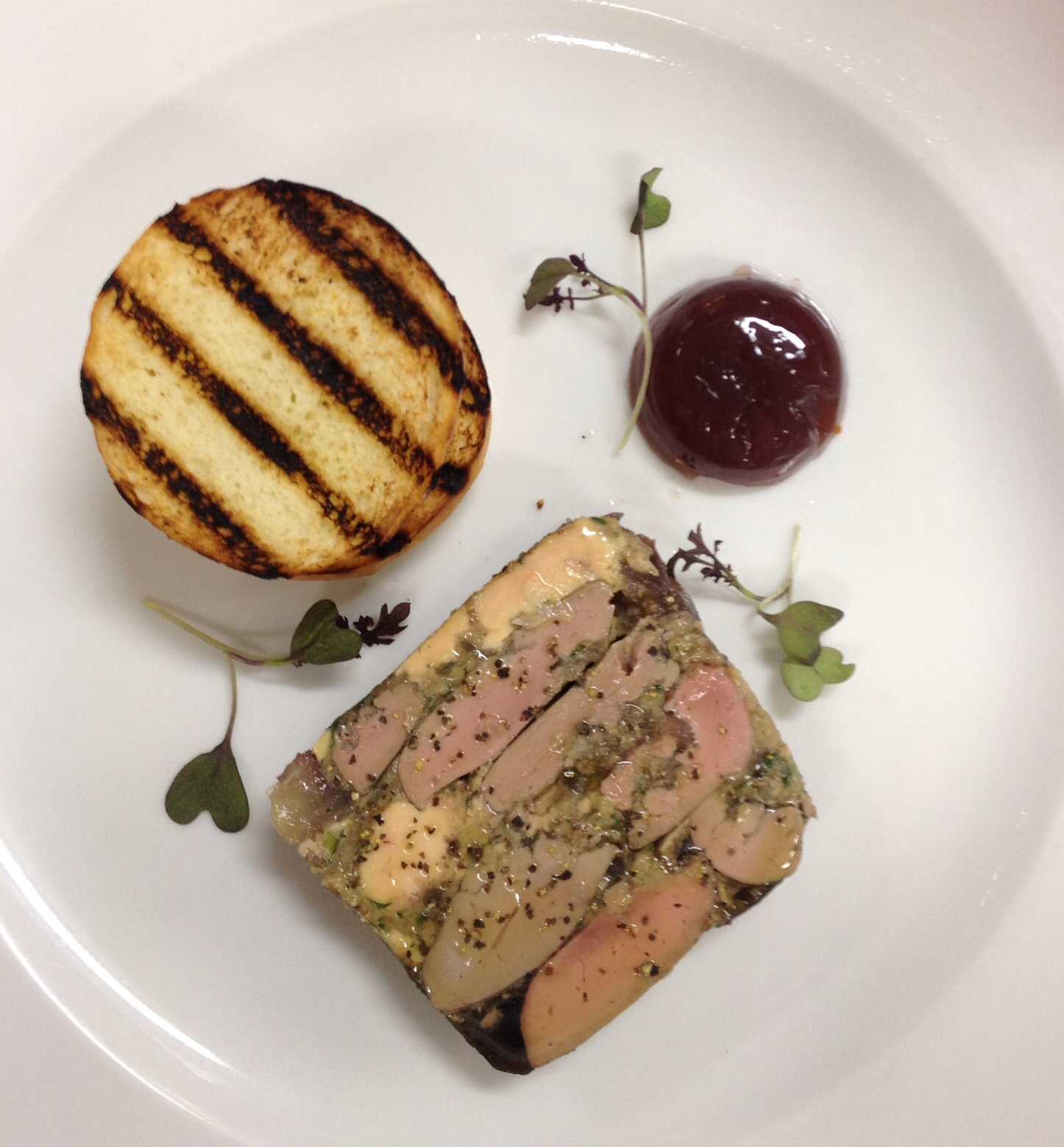 Foie gras & gressingham duck terrine
