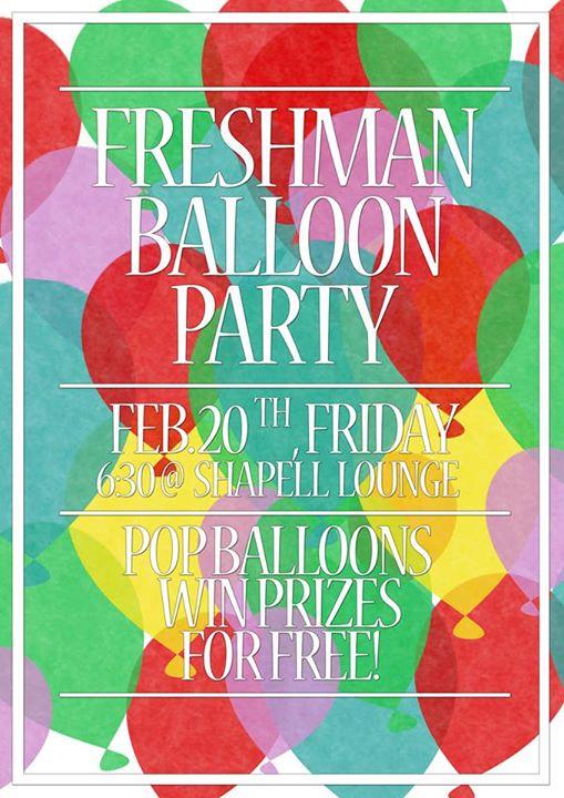 Freshman Balloon Party