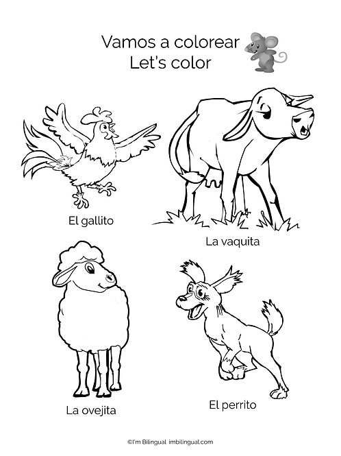 Coloring Pad for La Finca Book