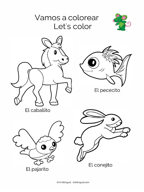 COLORING PAD for Los Pajaritos