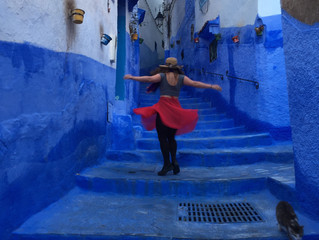 Blue houses with Blue windows: Morocco