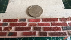 Scale Bricks with dime