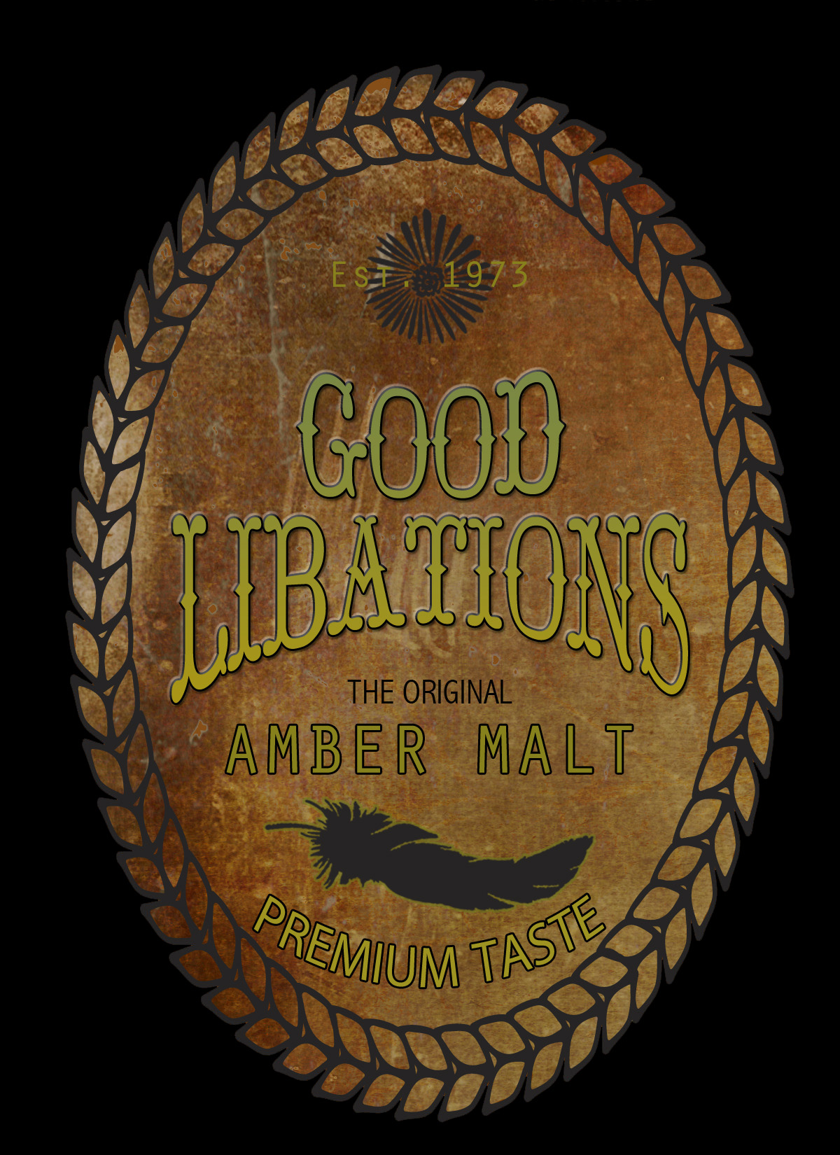 Good Libations Beer Label
