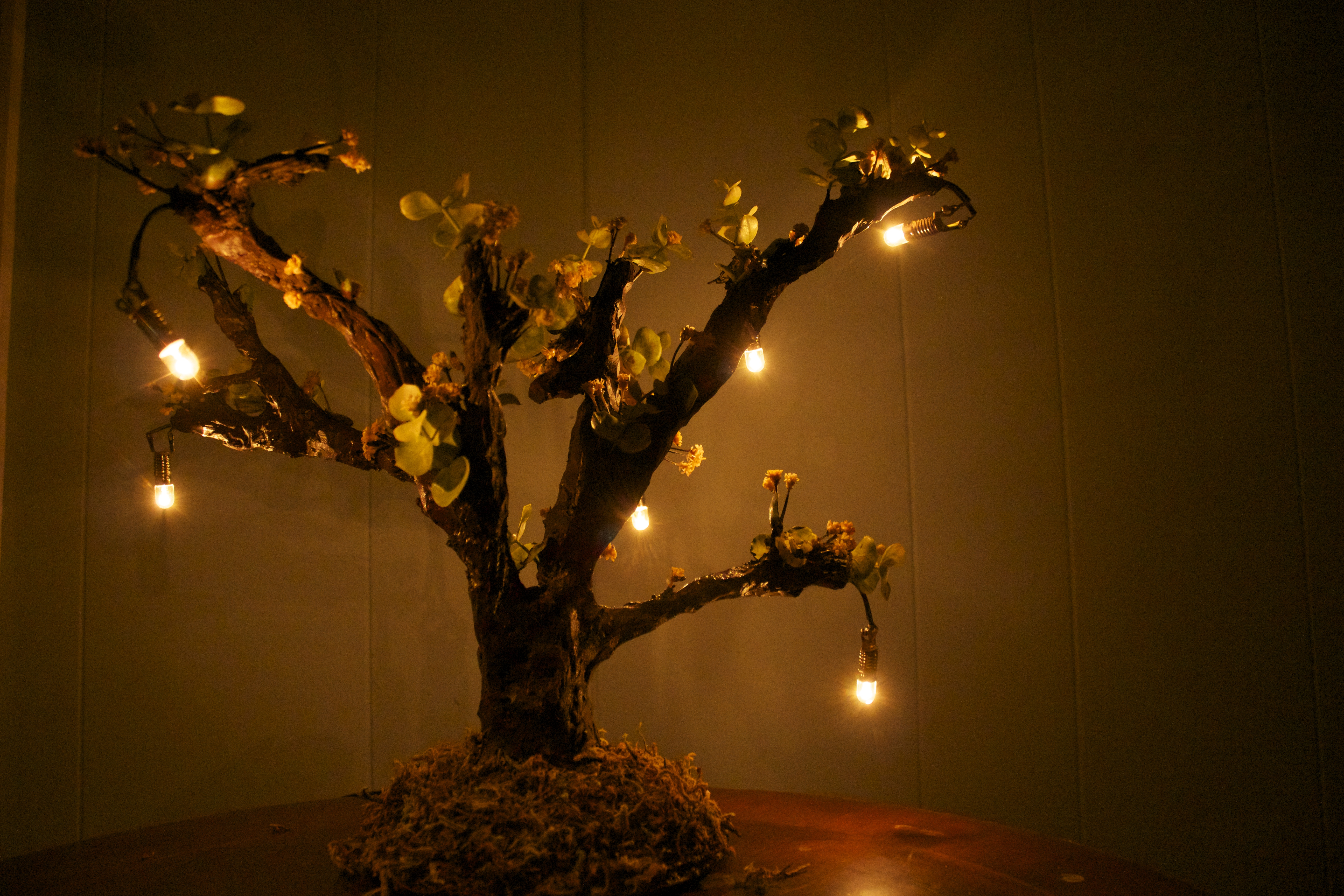 Yellow Bloom Candlearbor lamp