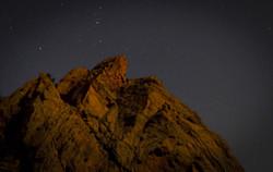 Boulder at night