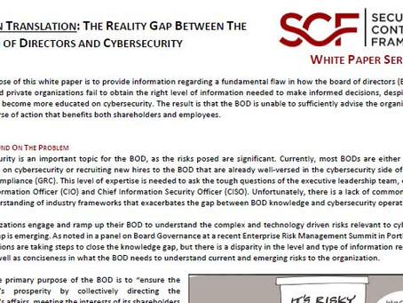 Lost In Translation: The Reality Gap Between the Board of Directors & Cybersecurity