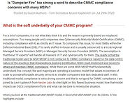 CMMC Dumpster Fire Article