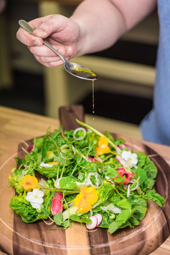 sharing table garden salad