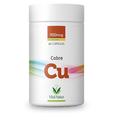 Cobre Quelato - 60 cápsulas - 900mcg