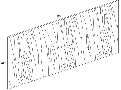 Back Panel- Short Grain Plywood Designer White