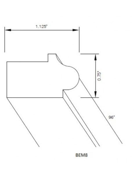 Bottom Edge Molding (Narrow Light Rail) Designer White