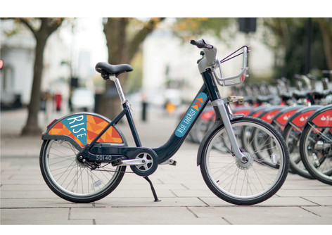 Branding on London Bikes.