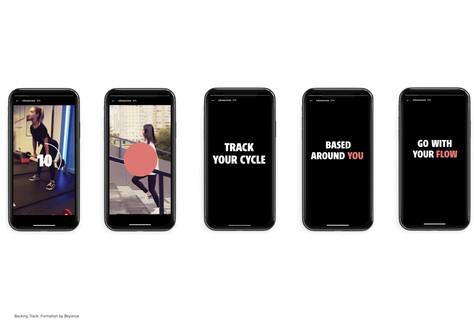 Stills from an Instagram advert.
