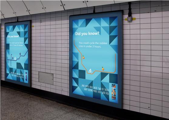 Advertisements in the London underground.