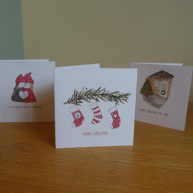 Personalised Christmas cards sold Dec 2020