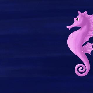 Seahorse digital illustration