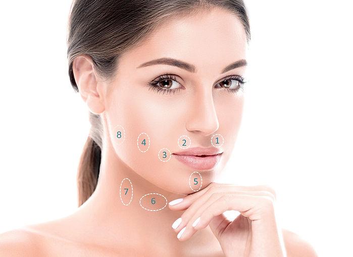 Зони за поставяне на ботокс в долна трета на лицето